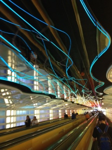 Walkway at O'Hare International Airport